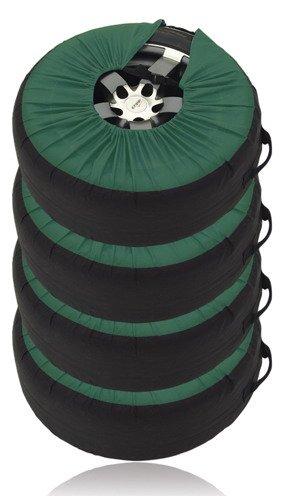 Набор чехлов для автомобильных шин (зеленый)