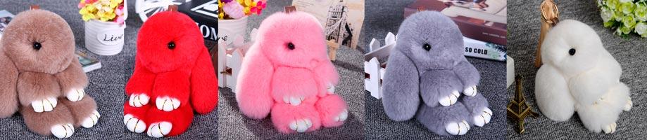 меховая игрушка брелок кролик рекс