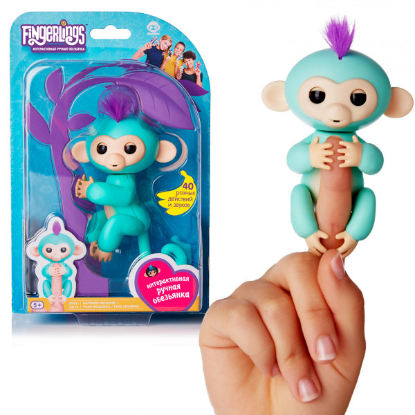 Интерактивная обезьянка Фингерлингс Прилипунцель Фингер Манки