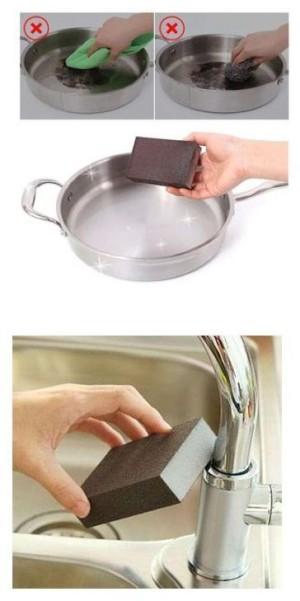 Чудо-губка для чистки сковородок и кастрюль