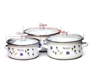 Набор кастрюль (3 эмалированные кастрюли)